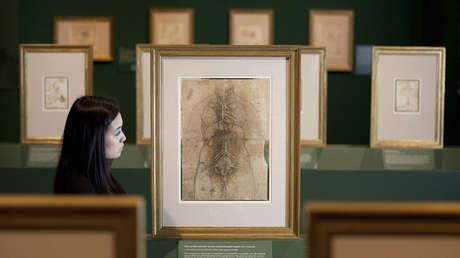 La obra de Leonardo da Vinci exhibida en Londres, Reino Unido, el 30 de abril de 2012.