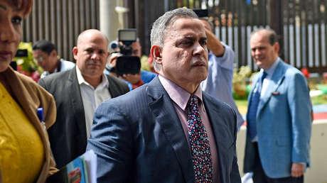El fiscal venezolano Tarek William Saab llega a la Corte Suprema de Justicia de Caracas, el 29 de enero de 2019