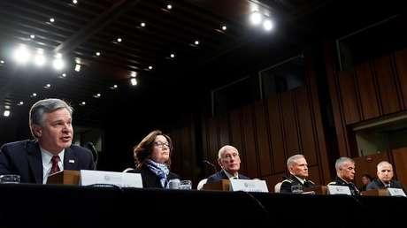 Jefes de inteligencia de Estados Unidos testifican ante el Comité de Inteligencia del Senado, 29 de enero de 2019