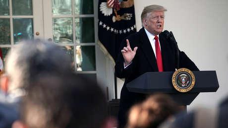 El presidente de EE.UU., Donald Trump, durante una conferencia de prensa en la Casa Blanca, Washington 25 de enero de 2019.