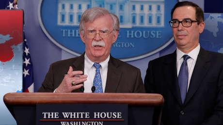 Bolton durante una rueda de prensa en la Casa Blanca, en Washington, EE. UU., 28 de enero de 2019.