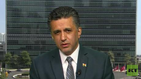 El representante permanente de Bolivia ante las Naciones Unidas, Sacha Llorenti.