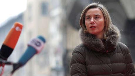 La alta representante de la Unión Europea para asuntos exteriores y política de seguridad, Federica Mogherini, en Bucarest, Rumania, el 31 de enero de 2019.