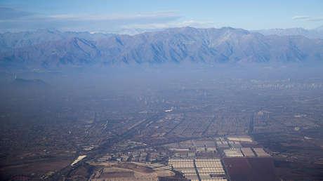 Vista aérea de Santiago de Chile, en junio del 2015.