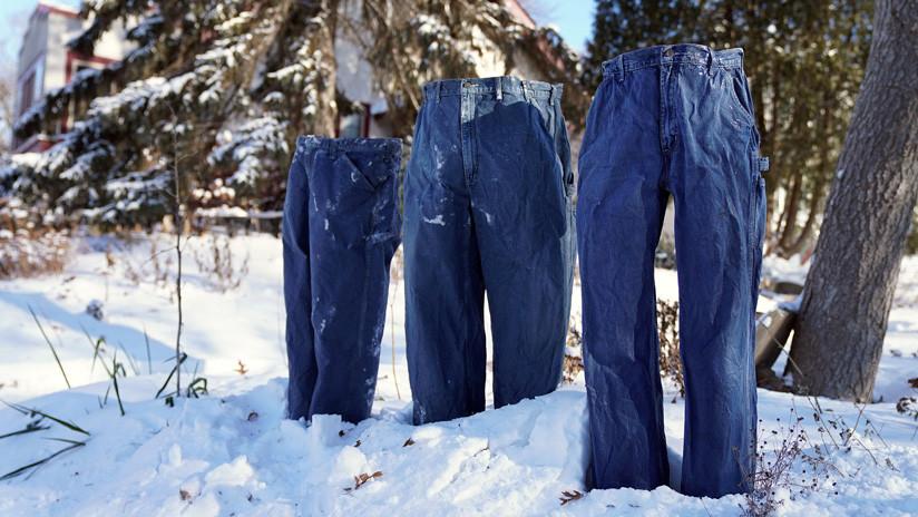 FOTOS: El desafío de los 'pantalones congelados' se vuelve viral durante el vórtice polar de EE.UU.