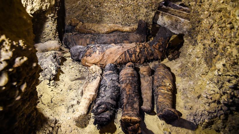 VIDEO, FOTOS: Descubren en Egipto una necrópolis con más de 40 momias del período helenístico en perfecto estado de conservación