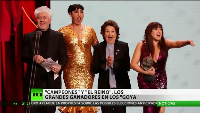 'Campeones' y 'El Reino', las grandes ganadoras de los premios Goya