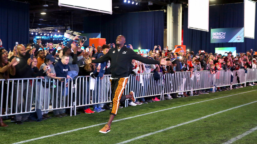 VIDEO: Nuevo récord histórico para Usain Bolt en un evento de la Super Bowl