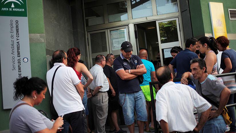 El paro registra en España su mayor incremento desde 2014