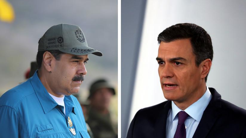"""Maduro a Pedro Sánchez: """"Si se concreta el golpe de Estado, sus manos quedarán manchadas de sangre"""""""