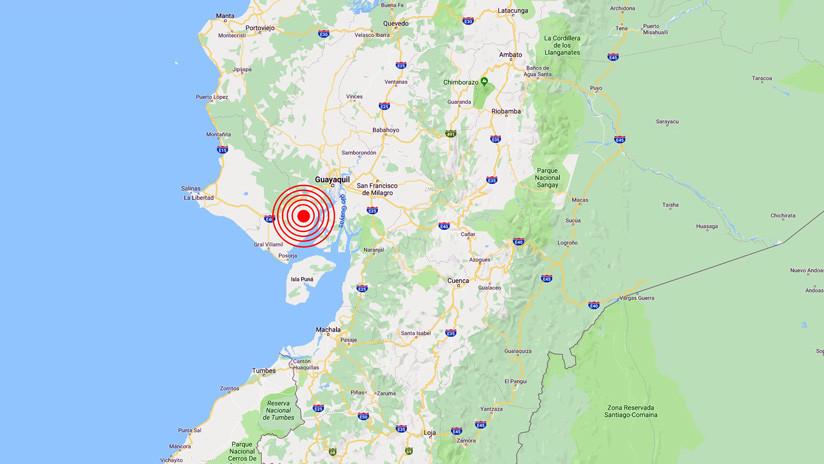 Se registra un terremoto de magnitud 5,9 en Ecuador