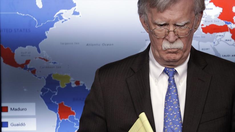 """Bolton llama a otros países a  reconocer a Guaidó como """"presidente"""" de Venezuela"""