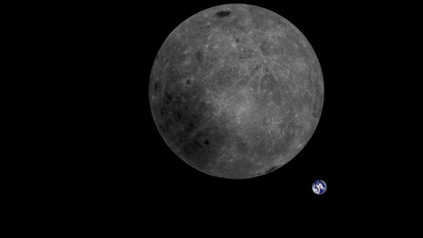 Lo nunca visto: Astrónomos chinos captan la cara oculta de la Luna con la Tierra al fondo (FOTO)