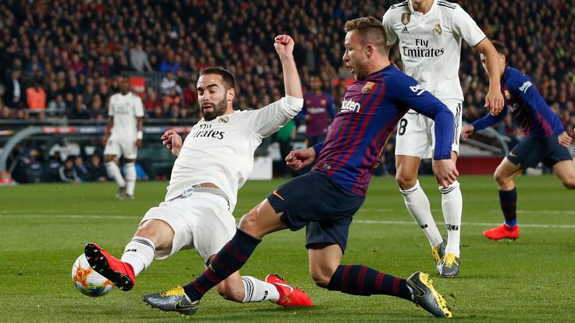 El FC Barcelona y el Real Madrid empatan en el primero de los dos 'Clásicos' de la Copa del Rey de España