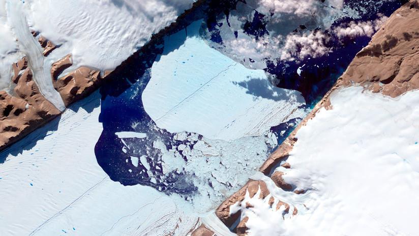 Otra grieta en uno de los glaciares más grandes de Groenlandia alarma a los científicos  (FOTO)