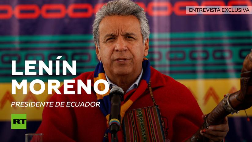 Lenín Moreno a RT: Ecuador seguirá protegiendo a Assange mientras crea que su vida corre peligro