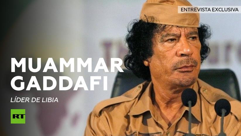 Entrevista con Muammar Gaddafi (1942-2011), líder de Libia durante más de 40 años