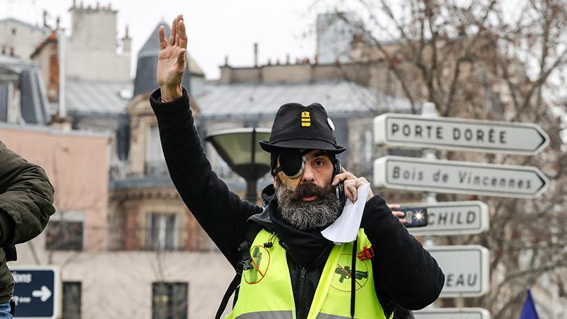Un líder de los 'chalecos amarillos' enumera las tres reivindicaciones clave del movimiento