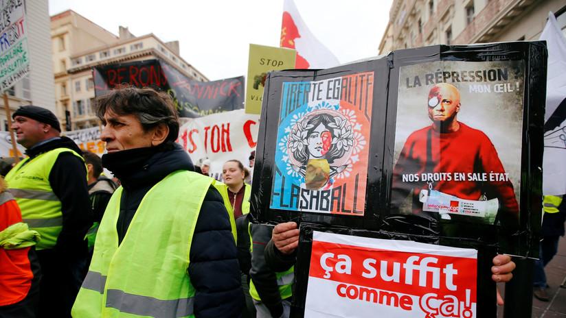 Las pistolas 'flash-ball', símbolo de la brutalidad policial contra los 'chalecos amarillos' en Francia