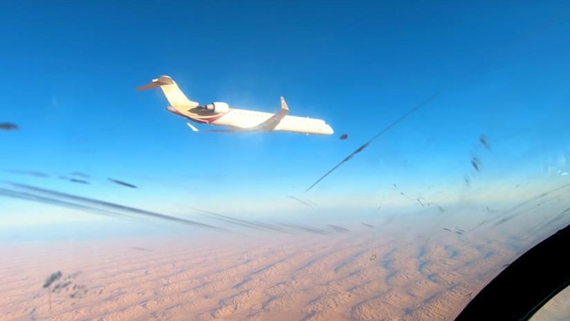 VIDEO: La Fuerza Aérea libia intercepta un avión civil que violó la zona de exclusión