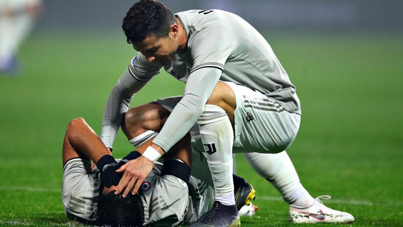 VIDEO: Ronaldo 'noquea' a un compañero de un pelotazo tras enfadarse con el árbitro
