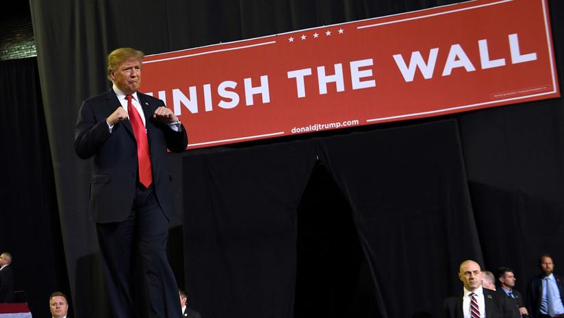 El nuevo eslogan de Trump que pide 'finalizar el muro' fronterizo que no ha empezado a construirse
