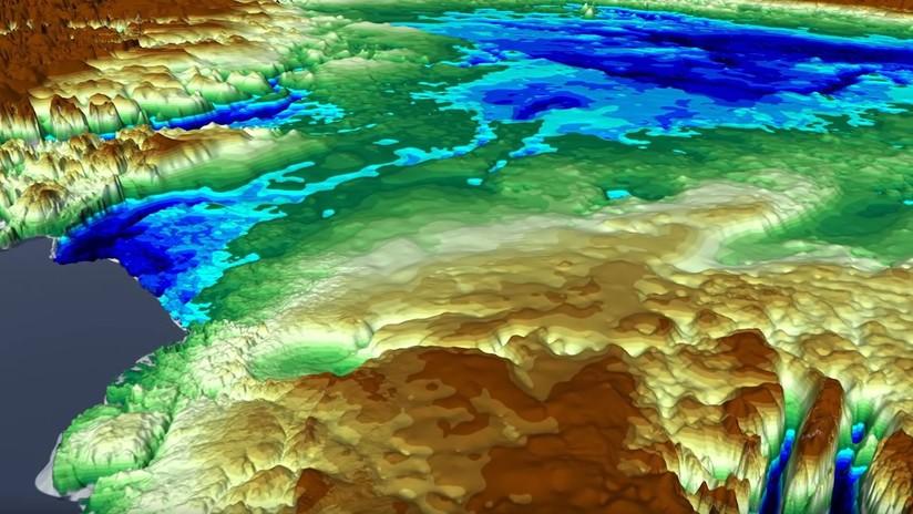 Hallan bajo el hielo de Groenlandia un cráter gigante producido por un meteorito