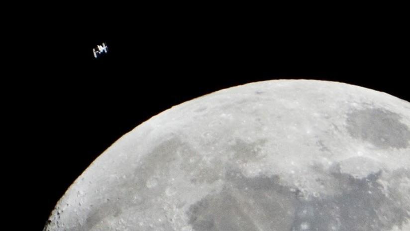 VIDEO: Astrónomo aficionado hace una rara captura del paso de la EEI con la Luna de fondo