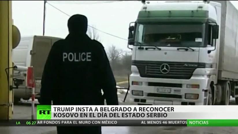 Trump insta a la República de Serbia a reconocer Kosovo