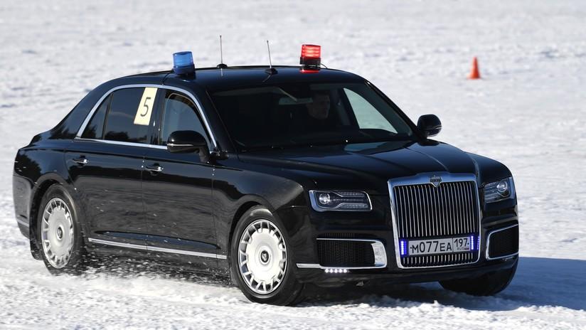 VIDEO, FOTOS: Las impresionantes maniobras de la limusina blindada presidencial rusa Aurus