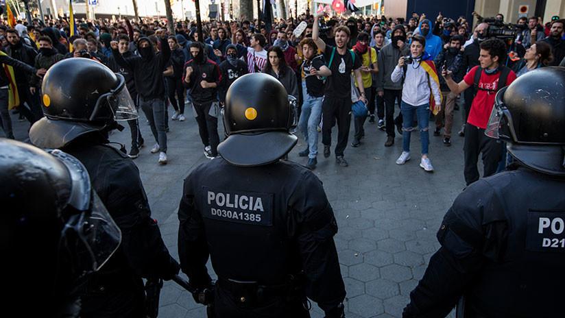 VIDEO: Protestas en Barcelona por el juicio contra los líderes del proceso independentista catalán