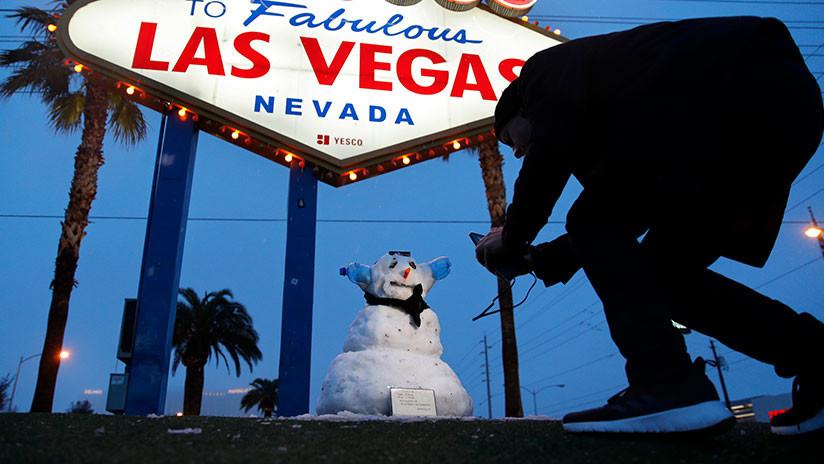 VIDEOS, FOTOS: Nieva en Las Vegas por primera vez en más de 10 años