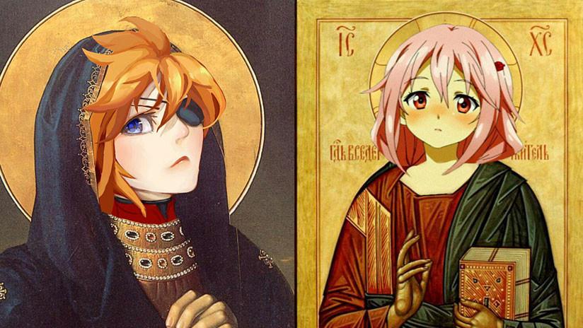 Polémica en Rusia por iconos religiosos al estilo 'anime' (FOTOS)