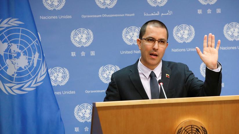 """Jorge Arreaza en la ONU: """"Un militar nunca tendrá órdenes de disparar a civiles"""""""