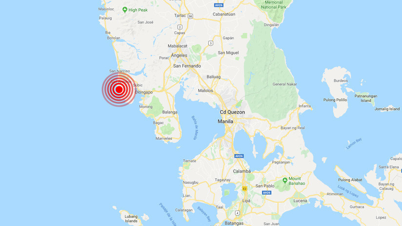 Un sismo de magnitud 5,2 sacude el noroeste de Filipinas