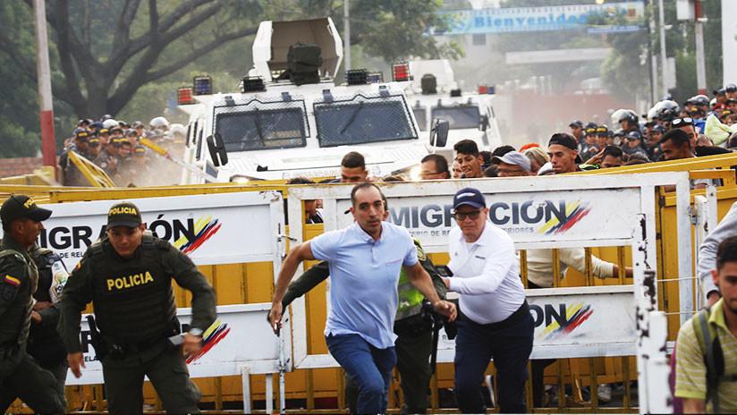VIDEOS: Momento cuando militares desertores cruzan con tanquetas hacia Colombia atropellando gente