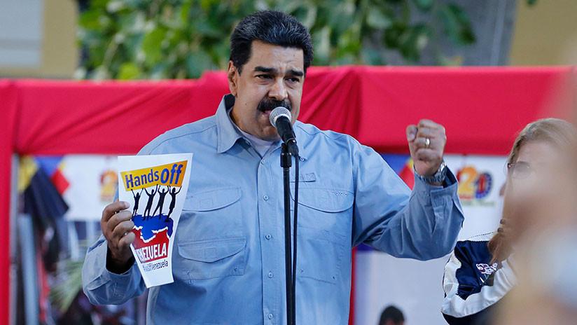 """Nicolás Maduro desde Caracas: """"Estamos defendiendo las fronteras de la patria y el derecho a ser libres"""""""