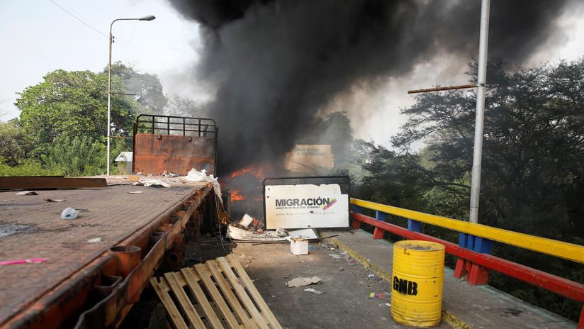 """El directo mensaje de Delcy Rodríguez a Marco Rubio sobre el """"falso positivo"""" de la quema de un camión"""