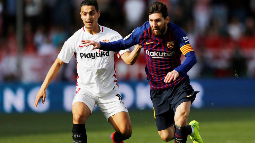 Se viraliza un mensaje dedicado a Messi escrito por un jugador del Sevilla tras caer derrotado ante el Barcelona