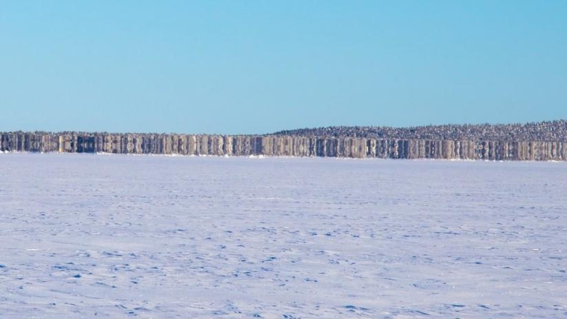 ¿Una isla que aparece de la nada o un espejismo? Patrulla fronteriza capta raro fenómeno sobre un lago congelado (FOTO)