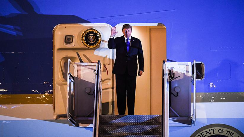 VIDEO: Donald Trump aterriza en Hanói para reunirse con Kim Jong-un