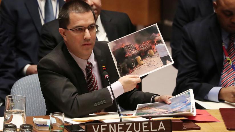 """Venezuela denuncia en la ONU que camiones de """"ayuda humanitaria"""" contenían herramientas """"para fabricar armas"""""""