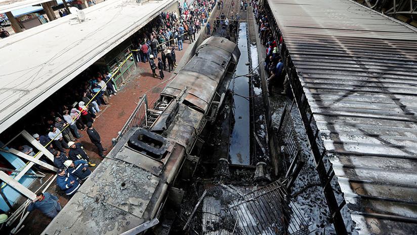 VIDEO: Momento exacto de la explosión de un tren en Egipto que dejó decenas de muertos