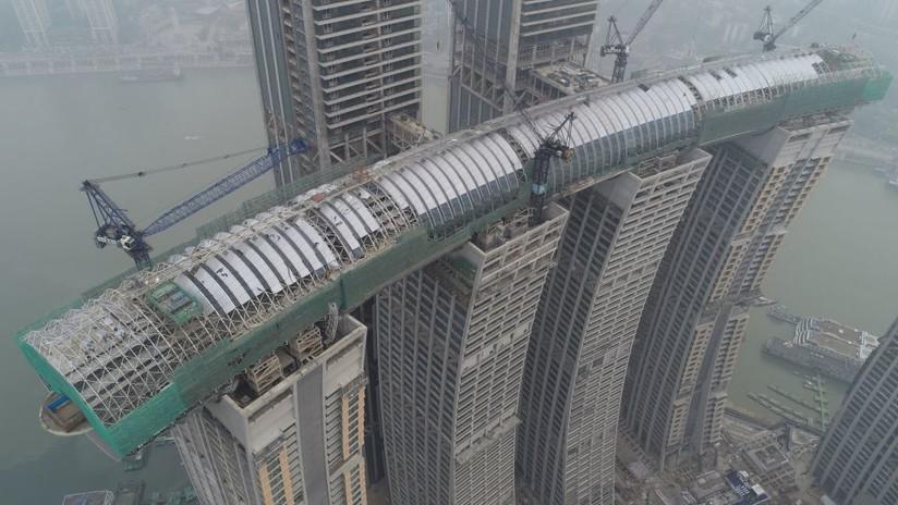 'Rascacielos horizontal': China se prepara para inaugurar un colosal proyecto arquitectónico
