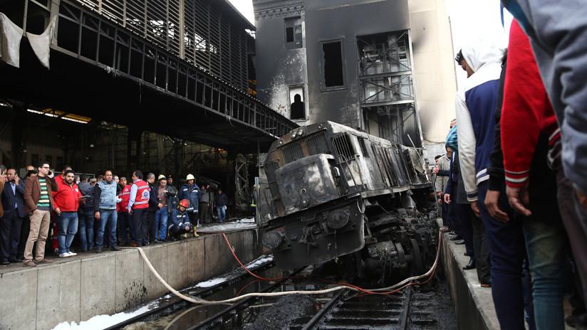 Un conflicto entre maquinistas provocó la explosión de un tren en una estación ferroviaria de Egipto