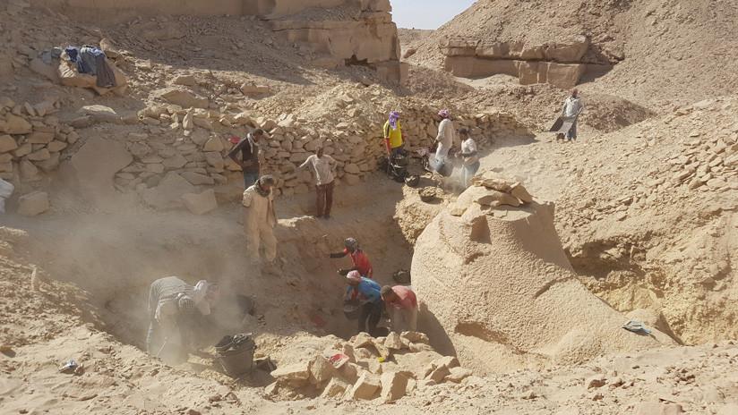 FOTOS: Descubren en Egipto una esfinge con cabeza de carnero de unos 3.500 años de antigüedad