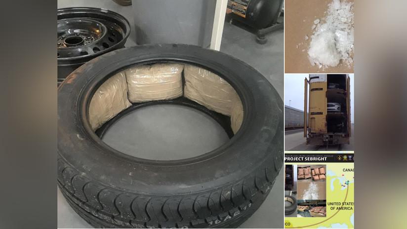 El Cártel de Sinaloa traficaba a Canadá metanfetamina escondida en neumáticos de automóviles nuevos