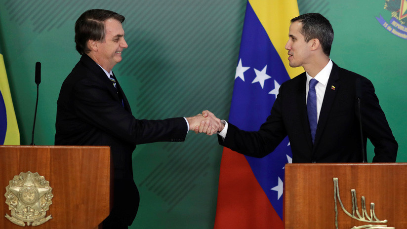 """Bolsonaro le dice a Guaidó que Brasil """"no ahorrará esfuerzos para establecer la democracia"""" en Venezuela"""
