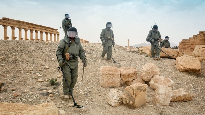 Rusia proporciona fondos a la ONU para desminar Siria
