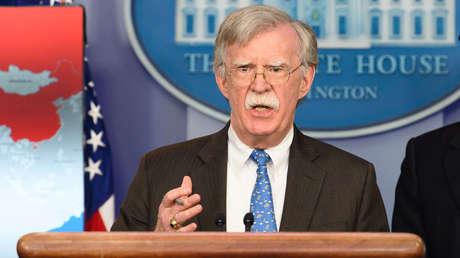 Bolton en rueda de prensa en la Casa Blanca en Washington, EE.UU., 28 de enero de 2019.